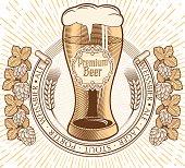 Premium beer decorative emblem