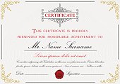 Premium certificate template design with border,
