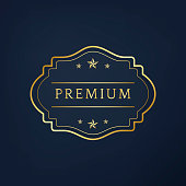 Premium collection badge design vector