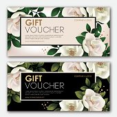 Premium gift certificate for a spa, beauty salon, shops, cosmetics and restaurants. Gift voucher. Discount card.