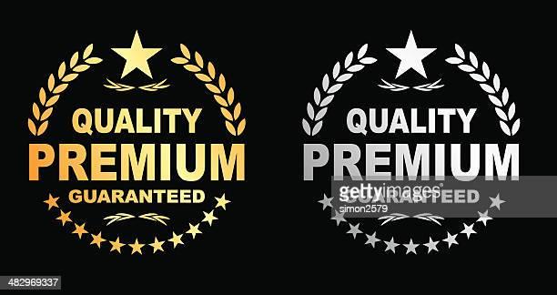 stockillustraties, clipart, cartoons en iconen met premium guaranteed - kwaliteit