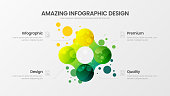 Premium quality 4 option marketing analytics presentation vector illustration template.