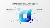Premium quality 4 option rectangle marketing analytics presentation vector illustration template.