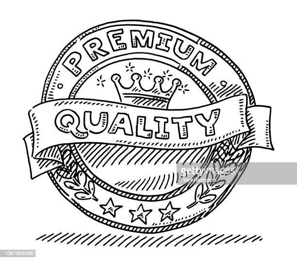 premium quality label design drawing - frankramspott stock illustrations