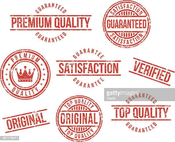 stockillustraties, clipart, cartoons en iconen met premium quality rubber stamps - kwaliteit