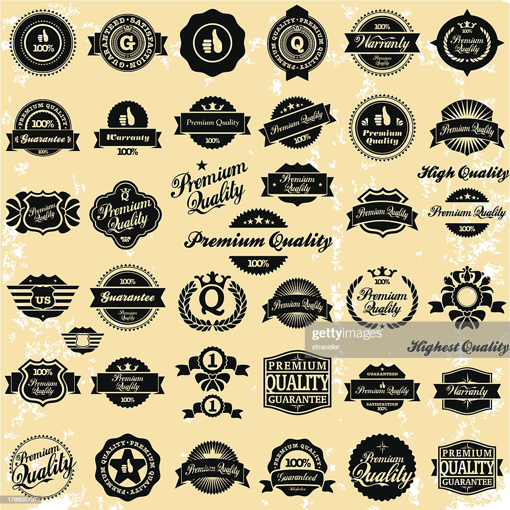 Premium Quality Vintage Labels
