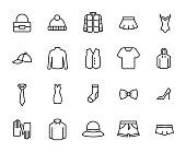 Premium set of clothing line icons.