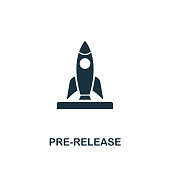 Pre-Release icon. Premium style design from crowdfunding icon collection. UI and UX. Pixel perfect pre-release icon. For web design, apps, software, print usage.