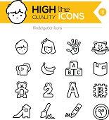 Preschool Line Icons