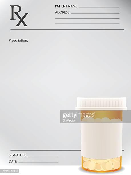 Prescription bottle and prescription