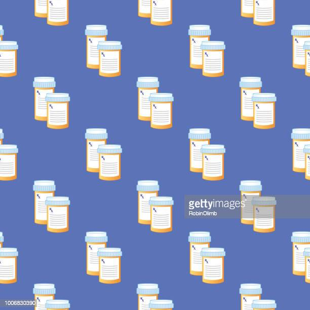 Prescription Bottles Seamless Pattern