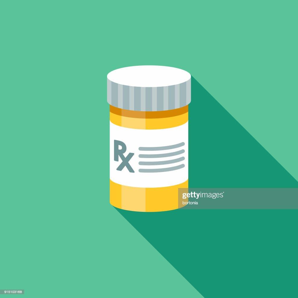 Prescription Flat Design Pet Care Icon