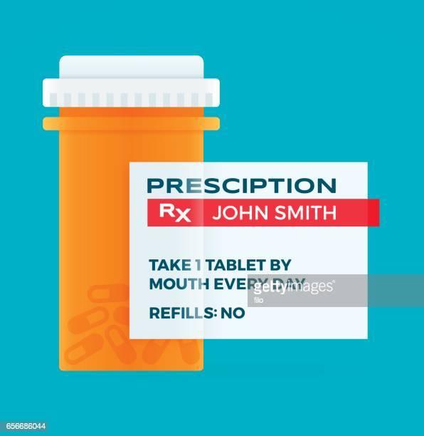 ilustrações, clipart, desenhos animados e ícones de frasco de comprimidos de farmácia de medicamento de prescrição - medicamento receitado
