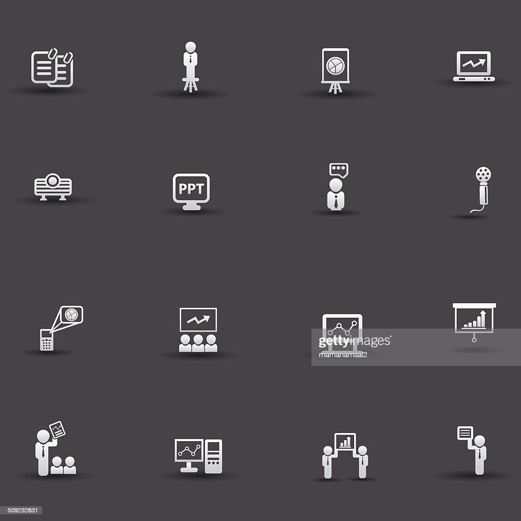 Presentation and business concept icons,vector