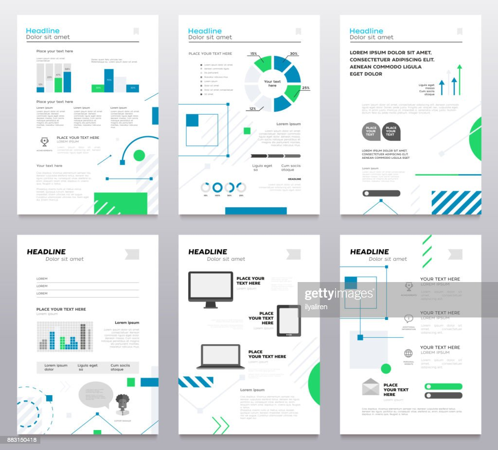 presentation booklet cover vector template a4 pages vector art