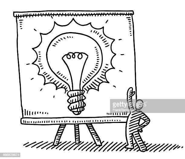 Presentation Chart Light Bulb Idea Drawing