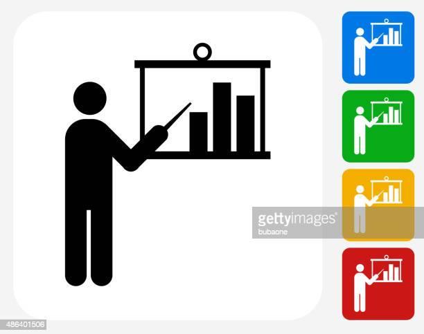 Apresentação plana ícone de Design gráfico Gráfico