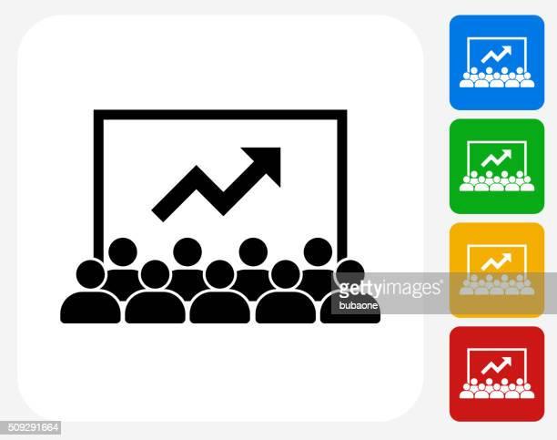 Presentación de iconos planos de diseño gráfico