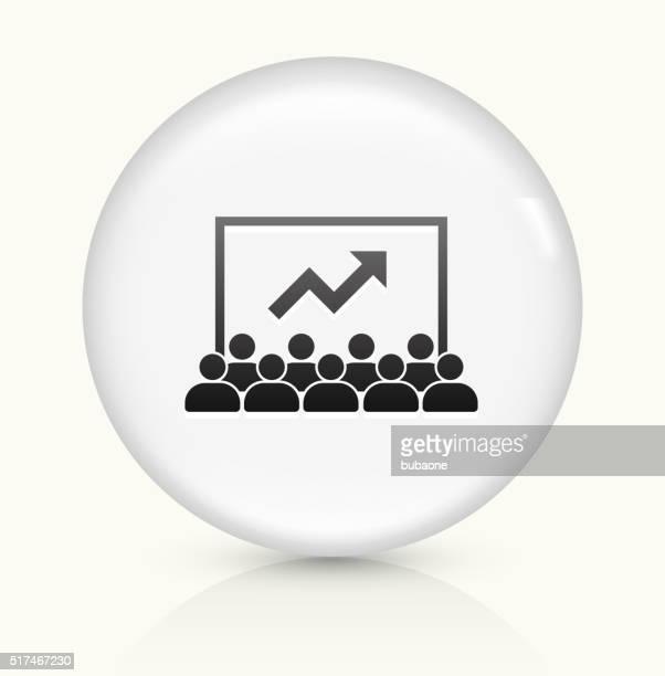 Presentación icono sobre blanco, Vector de redondo botón