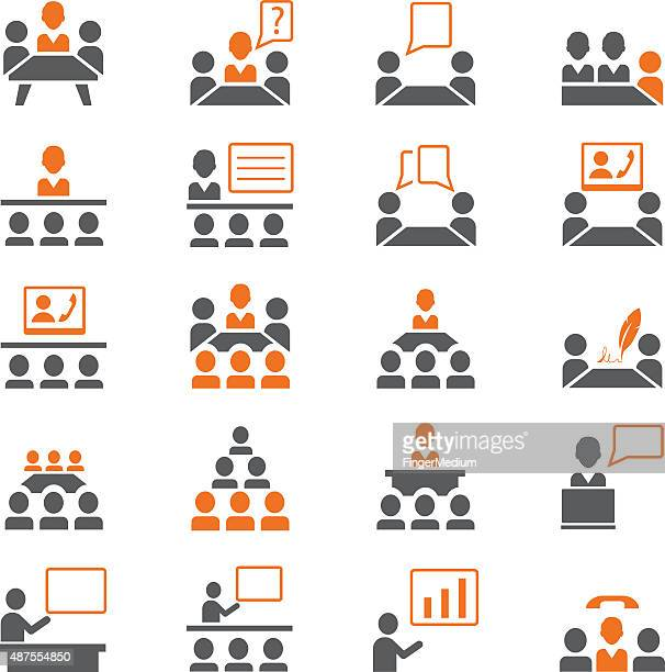 Presentation icon set