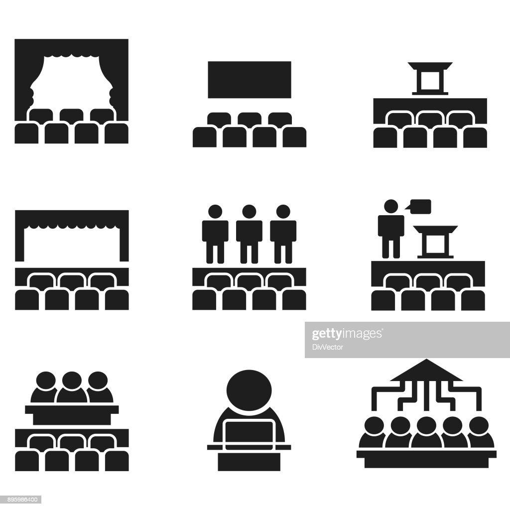 Presentation icons : stock illustration