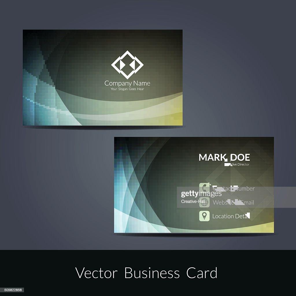 Presentation of visiting card design