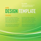 Presentation Square Bright green Design layout template sample flyer