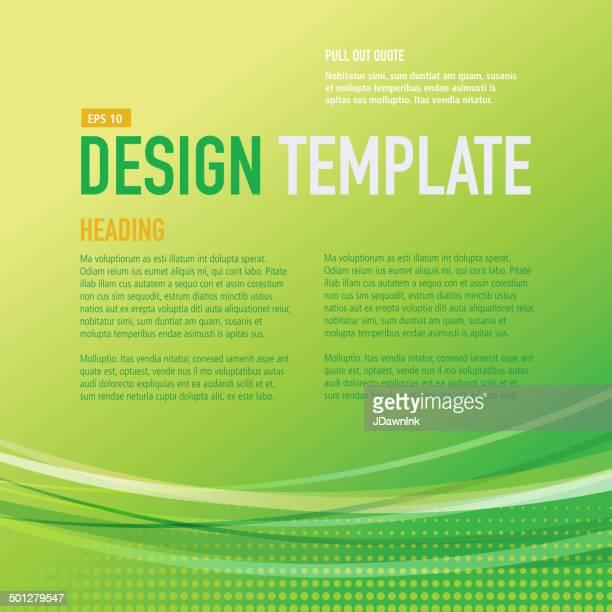 presentation square bright green design layout template sample flyer - generic description stock illustrations, clip art, cartoons, & icons