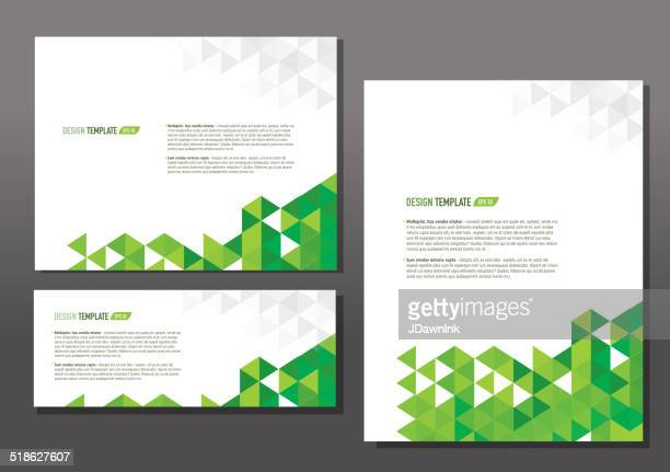 Presentation template set with sample text layout
