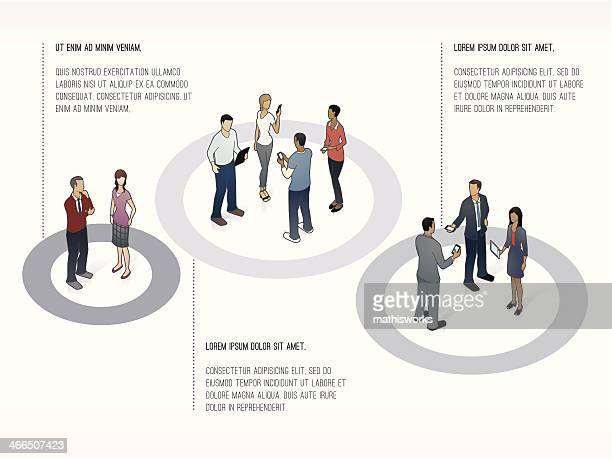 presentation template showing groups of people - mathisworks business stock illustrations