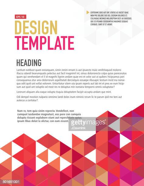 presentation template with sample text layout - newsletter stock illustrations