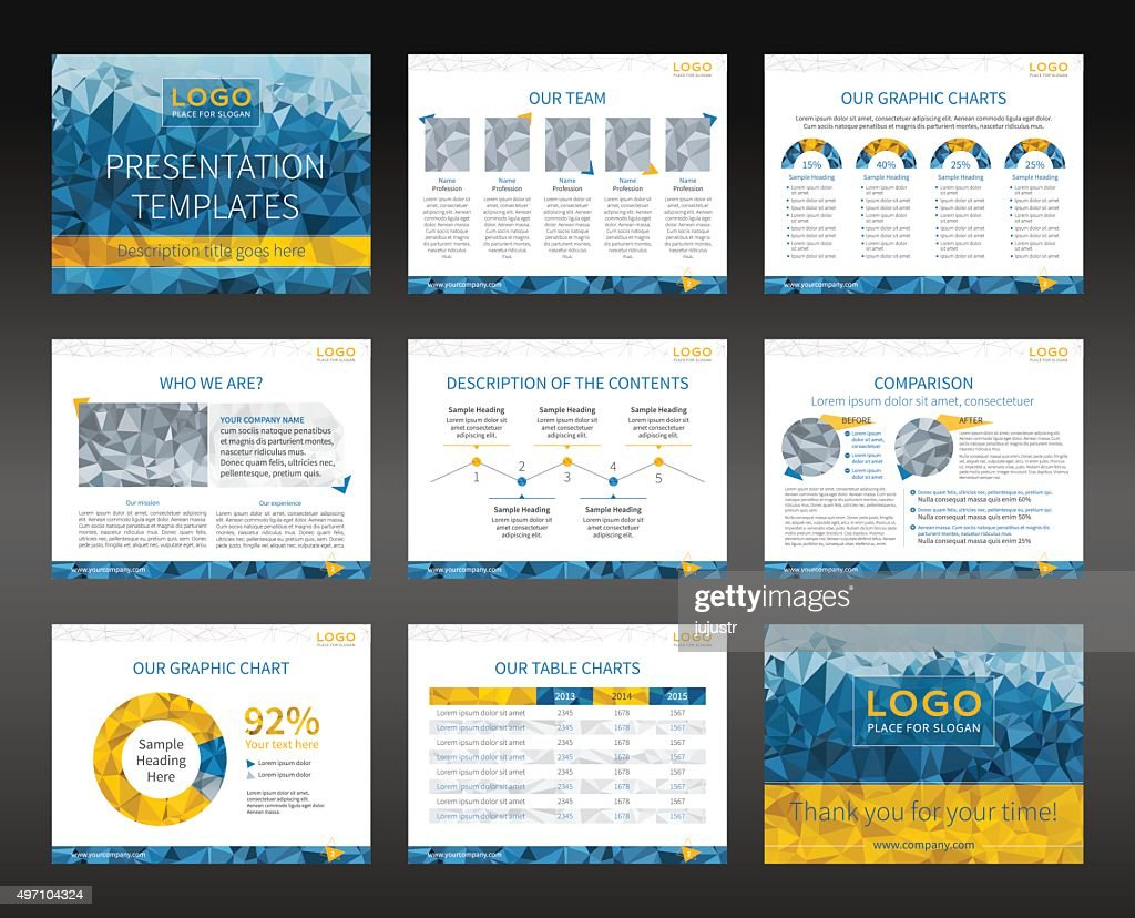 Presentation templates and business brochures layout design
