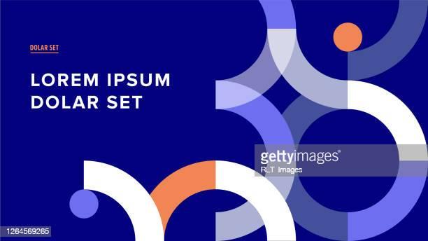 präsentation titel folie design vorlage mit retro midcentury geometrische grafik - bildschirmpräsentation stock-grafiken, -clipart, -cartoons und -symbole