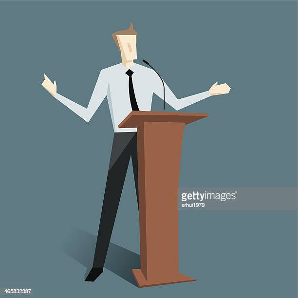 presentation - press conference stock illustrations, clip art, cartoons, & icons