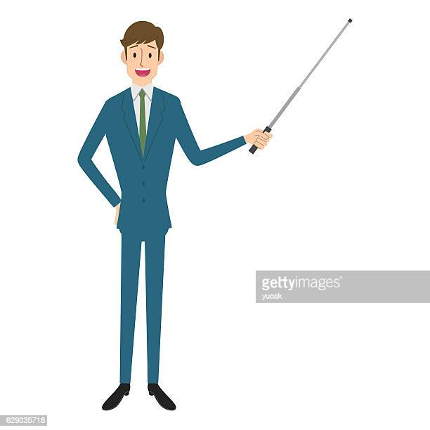 presentation - pointer stick stock illustrations