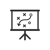 Presenting Business Plan Icon