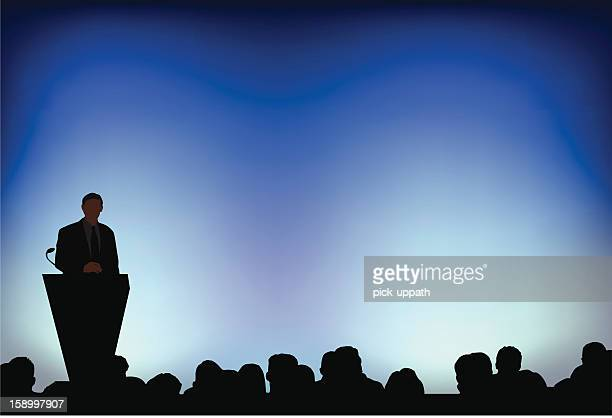 presenting detailed - projection screen stock illustrations