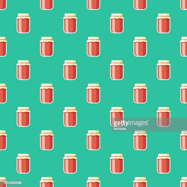 preserves seamless pattern - antioxidant stock illustrations, clip art, cartoons, & icons