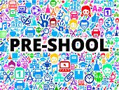 pre-shool School and Education Vector Icon Background