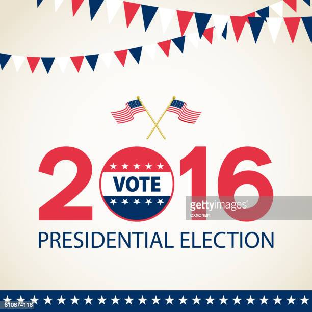 presidential election 2016 - 2016 stock illustrations, clip art, cartoons, & icons