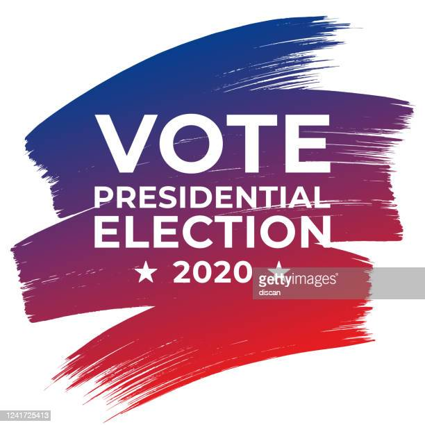 presidential election 2020 in united states. vote day, november 3. us election. patriotic american element. poster, card, banner and background. vector illustration. - voting stock illustrations