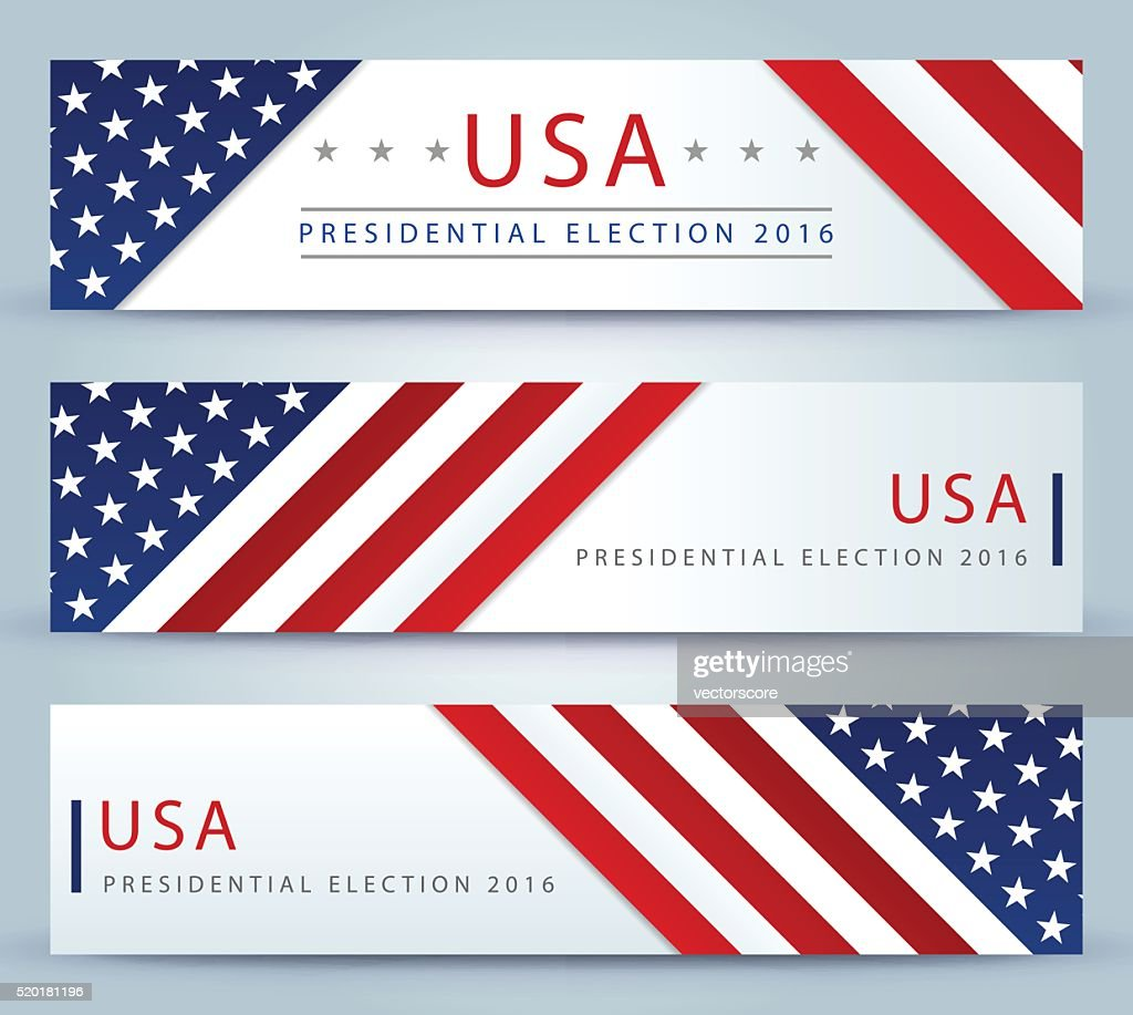 USA Presidential election banner background