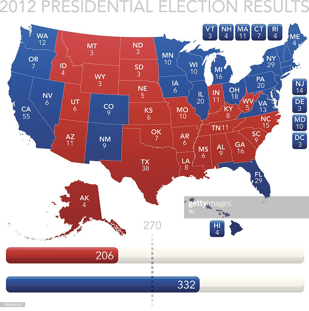 Presidential Election Results 2012 : stock illustration