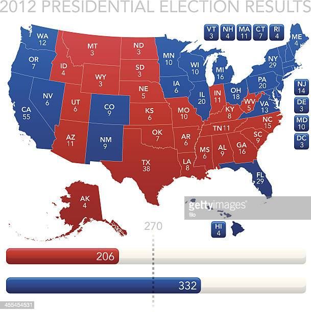 presidential election results 2012 - labeling stock illustrations, clip art, cartoons, & icons