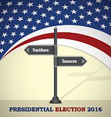 USA 2016 Presidential election template, republiicans or democrats