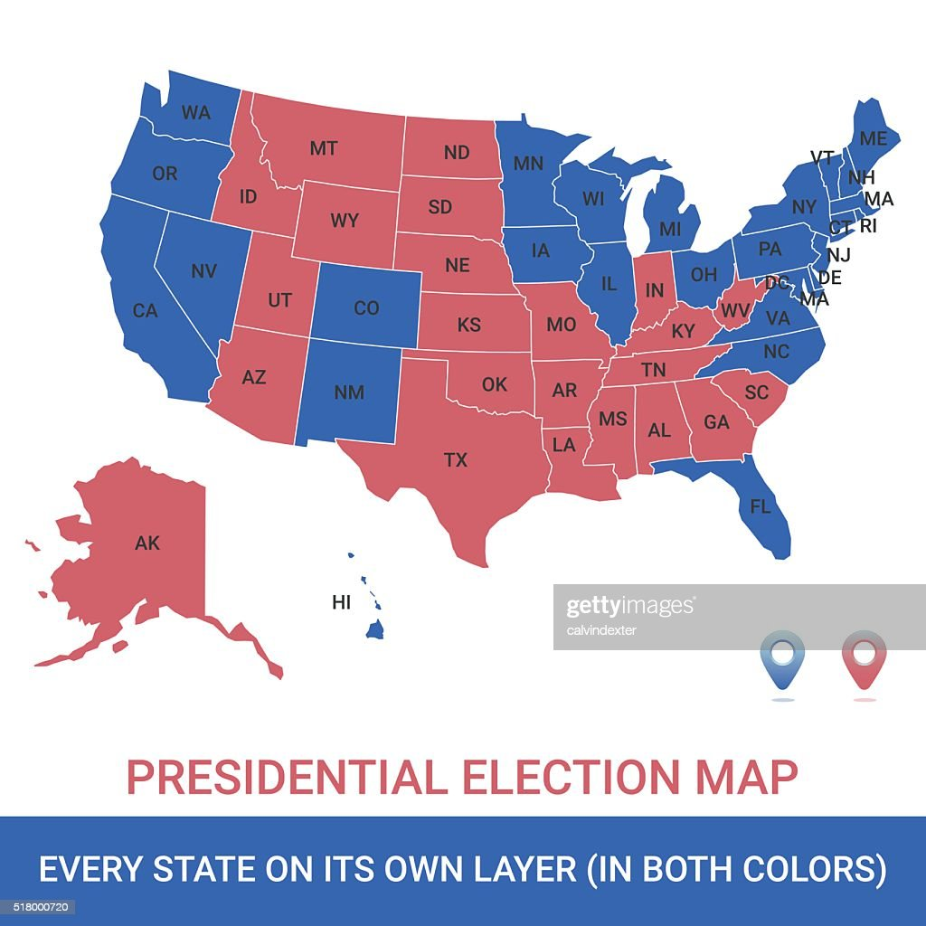 Presidential Election USA Map : stock illustration