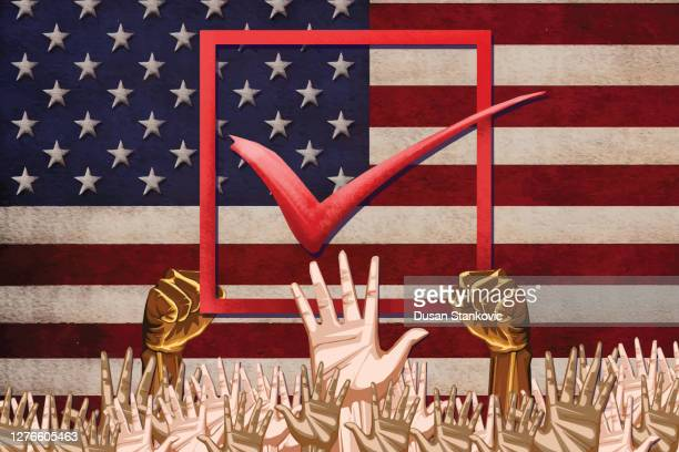 presidential elections in america - presidential election stock illustrations
