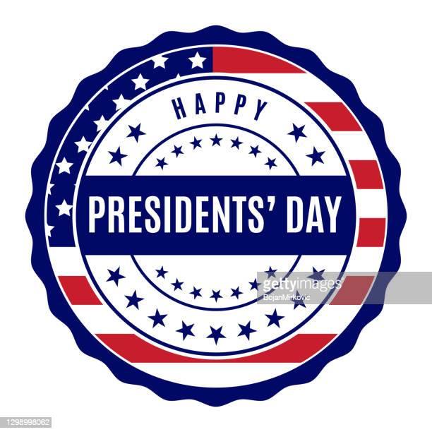ilustraciones, imágenes clip art, dibujos animados e iconos de stock de etiqueta del día de los presidentes. vector - president