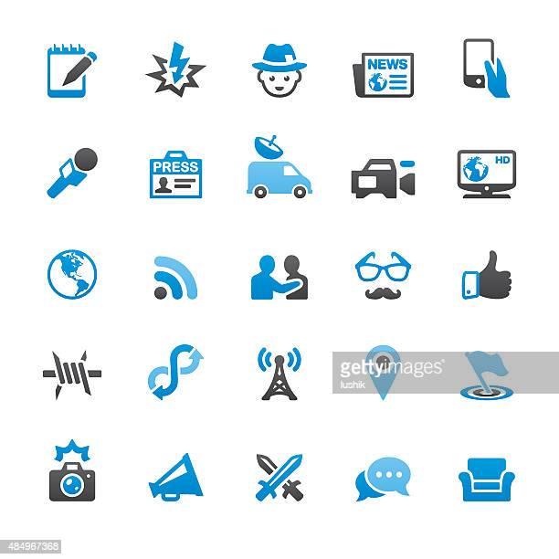 プレスおよびメディア関連のベクトルのアイコン - コラムニスト点のイラスト素材/クリップアート素材/マンガ素材/アイコン素材