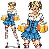 Pretty Bavarian girl, Oktoberfest Pin Up